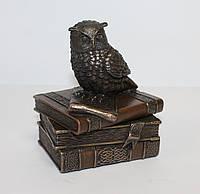 Шкатулка Veronese Сова на книгах, символ мудрости