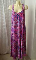 Платье летнее пляжное макси Relaxx р.50-54 7552