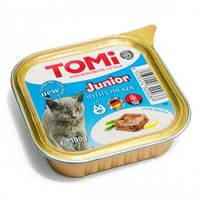 TOMi junior ТОМИ СУПЕРПРЕМИУМ ДЛЯ КОТЯТ консервы с курицей 100гр