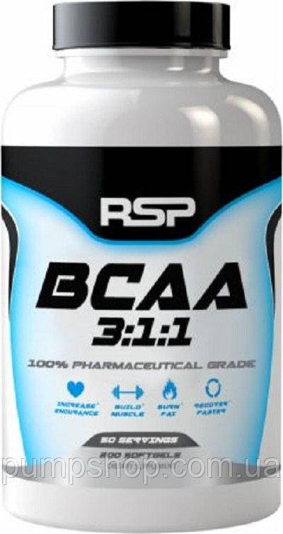 BCAA RSP Nutrition BCAA 3:1:1 200 капс.