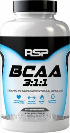 BCAA RSP Nutrition BCAA 3:1:1 200 капс., фото 2