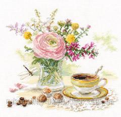 """Набор для вышивки крестом """"Алиса"""" Утренний кофе 5-18"""
