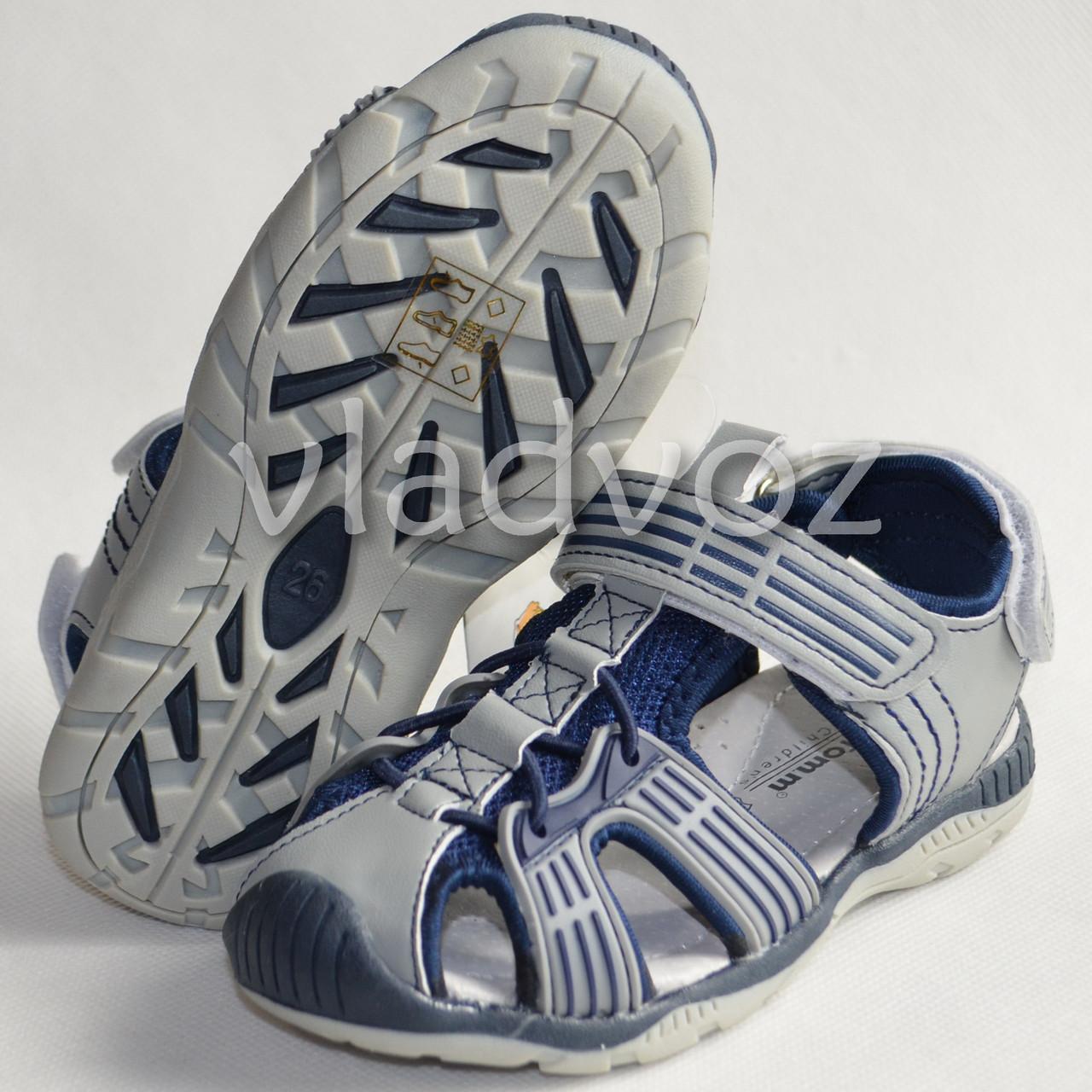 Босоножки сандалии для мальчика на мальчиков мальчику Tom.M серые Спорт 26р.