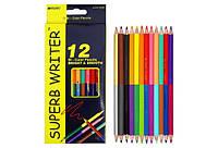 Карандаши цветные MARCO Superb Writer 4110-12СВ двусторонние 12шт, 24цв.