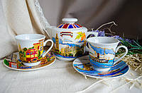 "Набор ""Лондон′"" (чайник и 2 чашки)"