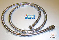 """Шланг для душа в двойной металлической оплетке с латунными гайками 1/2""""x150 см. ISA"""
