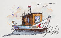 """Набор для вышивки крестом """"Panna"""" Рыбацкая лодка МТ-1940"""
