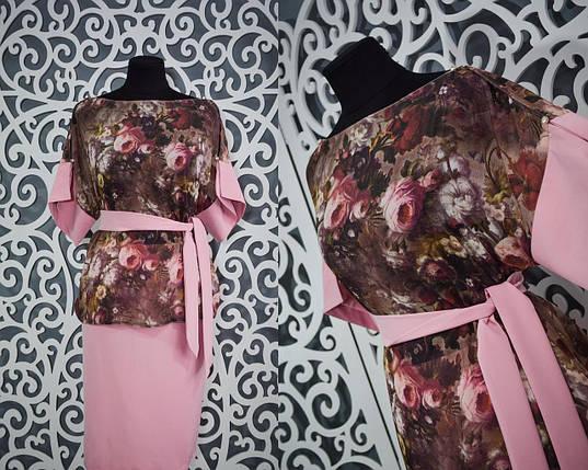 Стильный и нежный женский костюм 100% качество 50, 52, 54 размеры батал, фото 2