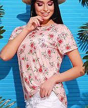 Красочная женская футболка (1728 mrs), фото 3