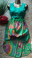 Платье+пояс со шлейфом 2172 44-46р зеленый