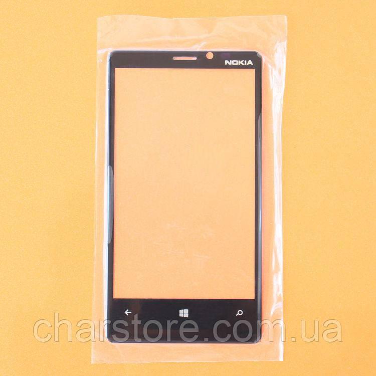 Стекло дисплея (экрана) для Nokia Lumia 920 черное