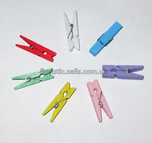 Прищіпки кольорові 3,5 см - 7 шт.