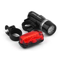 Велофара + задний фонарь для велосипеда, LED свет.