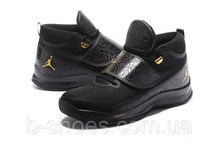 Мужские баскетбольные кроссовки Air Jordan Super Fly 5 PO (Black/Metallic Gold)