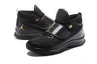 Мужские баскетбольные кроссовки Air Jordan Super Fly 5 PO (Black/Metallic Gold), фото 1