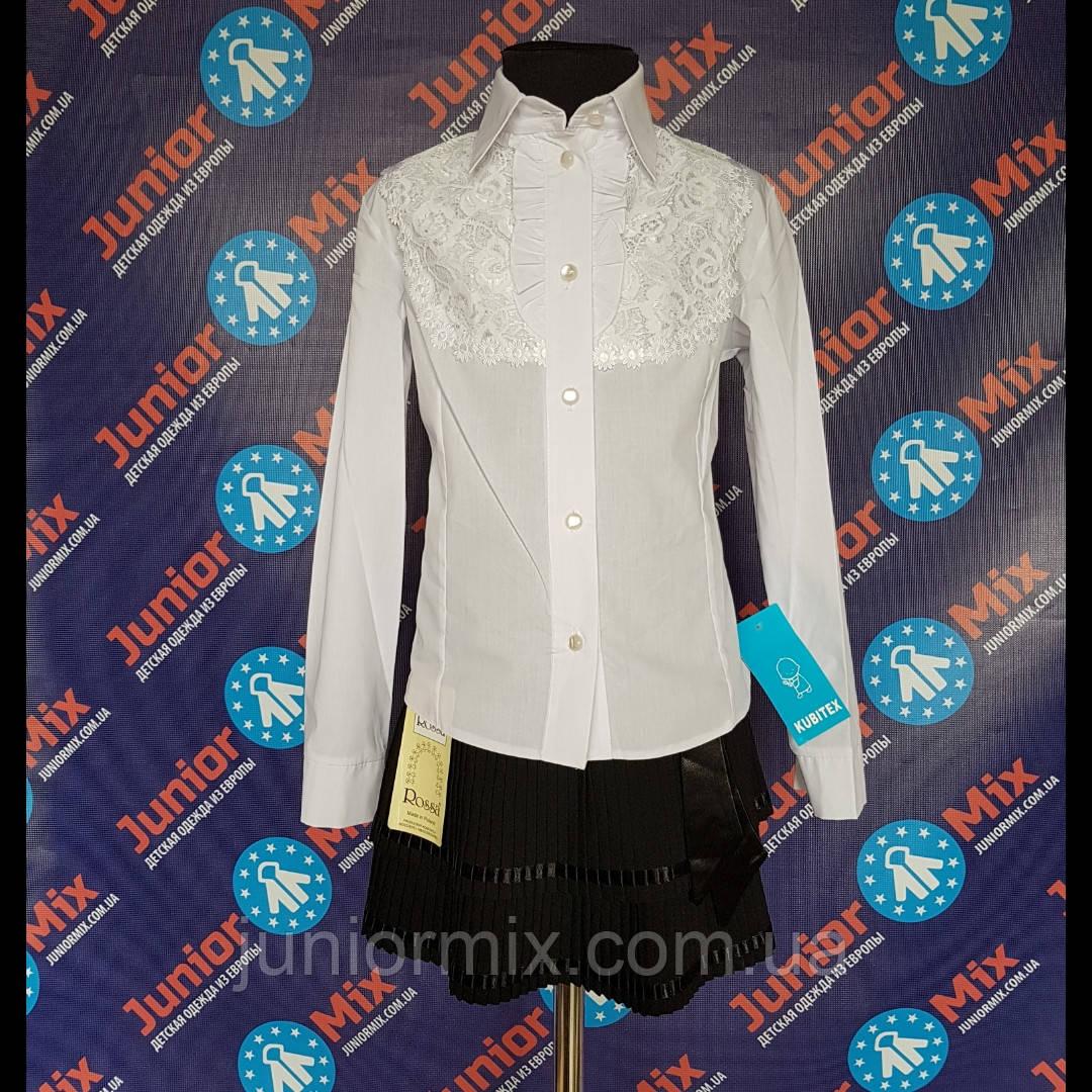 Школьная  нарядная блузка х/б  на девочку KUBITEX