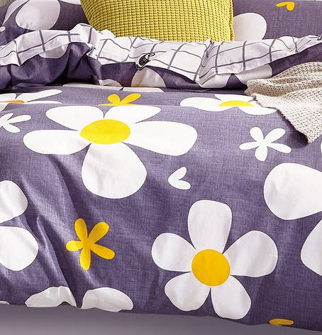 Комплект постельного белья полуторный Сатин 160х220 КАРО, фото 2
