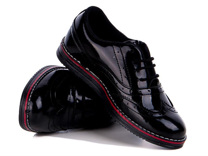 Туфли №182 лак черный (30-35 р.)
