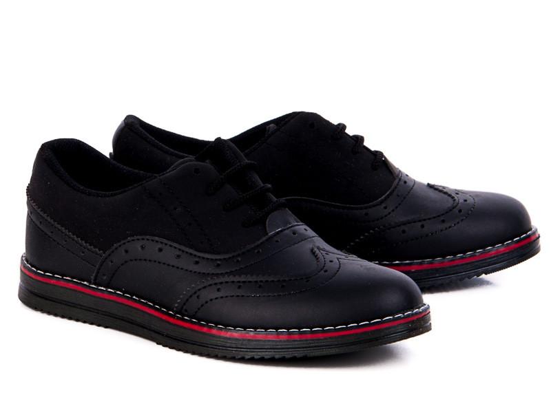 Туфли №182 матовый черный (30-35 р.)