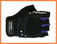Спортивные перчатки без пальцев для фитнеса женские