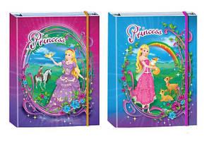 Тека для зошитів А5 на гумці картонна Kidis Принцеси
