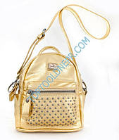 Сумка-рюкзак, золотая, 17*20*8см