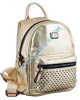 Сумка-рюкзак, золотая, 19.5*25*11см