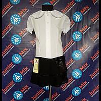 Школьная блузка х/б для девочек короткий рукав  Katherine