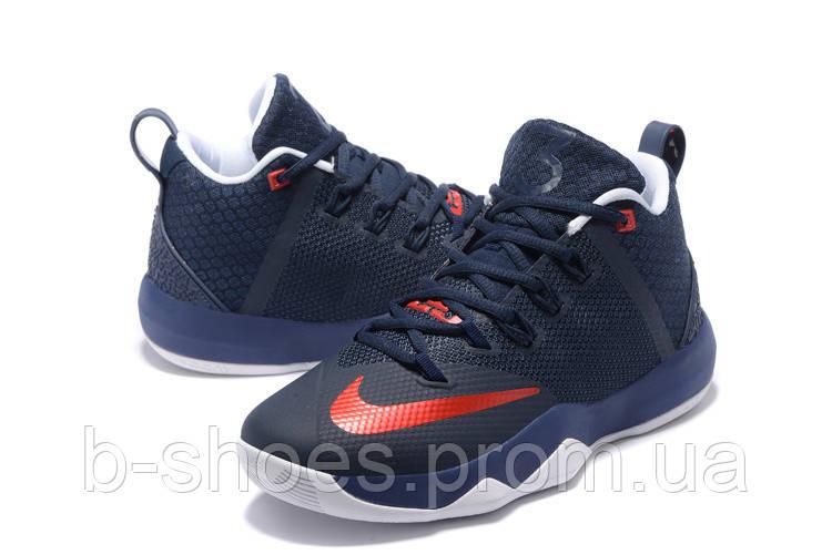 Мужские баскетбольные кроссовки Nike Ambassador 9 (Navy Blue/Red)
