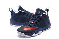 Мужские баскетбольные кроссовки Nike Ambassador 9 (Navy Blue/Red), фото 1