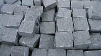 Брусчатка гранитная Букинского(Габро)черная) месторождения 10*10*5