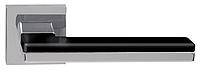 Дверные ручки RDA DOMINO CP/CP/BL – хром/хром/черный