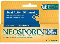 Заживляющая Мазь Неоспорин с Обезболивающим Эффектом, Neosporin Plus Pain Relief Ointment, 14.2 грамм