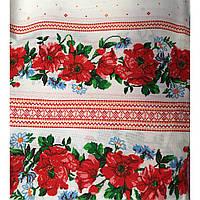 Кухонное полотенце льняное в украинском стиле с маками