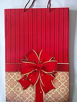 Пакет подарунковий паперовий великий вертикальний 25х39х9 (27-022)