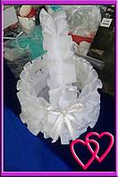 """Свадебные корзинки для лепестков """"Атлас"""" Белый"""