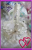 """Свадебные корзинки для лепестков """"Атлас"""" Молочный"""