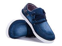 Кеды №03 джинс синий (30-35 р.)