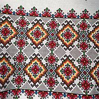 Кухонное полотенце льняное в украинском стиле