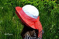 Хлопковая панама-шляпка для девочки