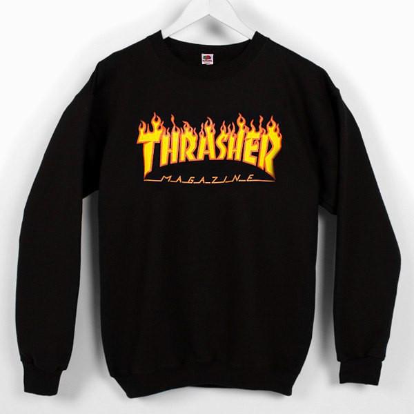 """Свитшот мужской с принтом """"Thrasher Magazine""""   Оригинальная бирка"""