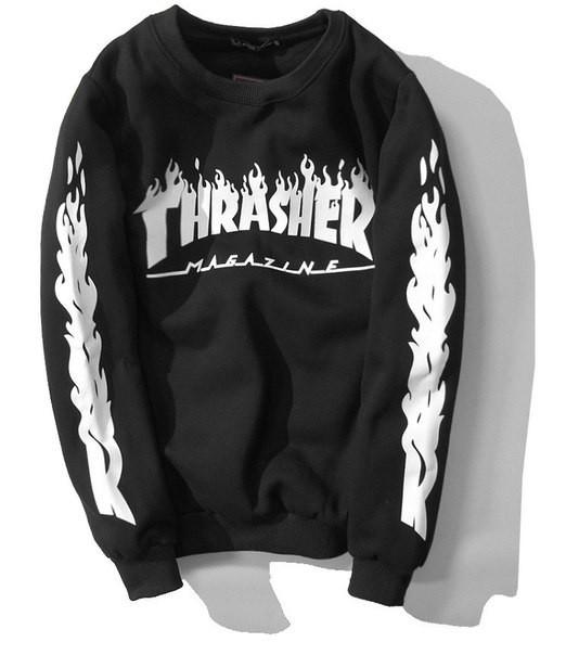 Свитшот мужской с принтом Thrasher R| Оригинальная бирка
