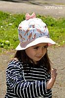 Хлопковая панамка для девочки