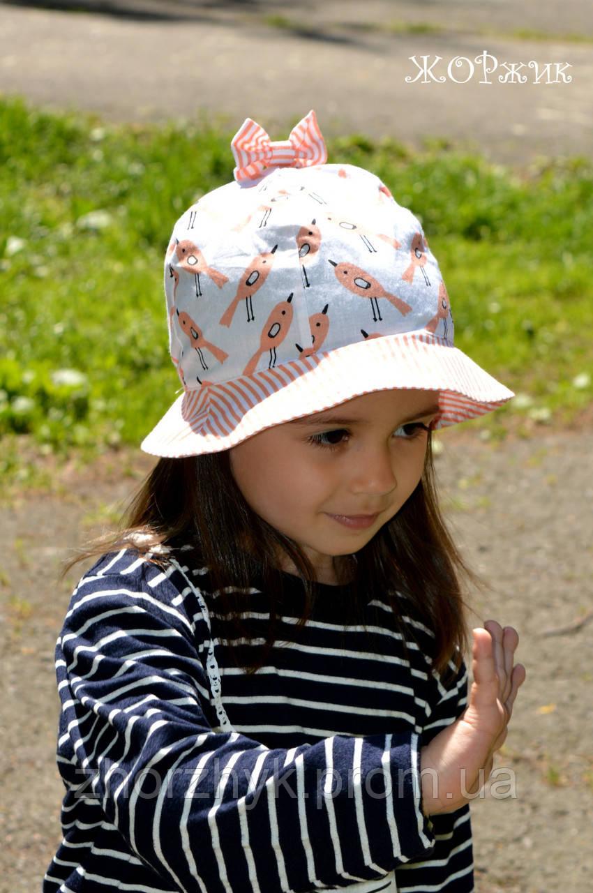 Хлопковая панамка для девочки  продажа 05ac3a17ff35f