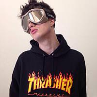Толстовка с принтом Thrasher Flame Logo | Легендарная худи