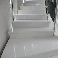 Лестница из натурального камня Thassos White (Подступенок) 20 мм