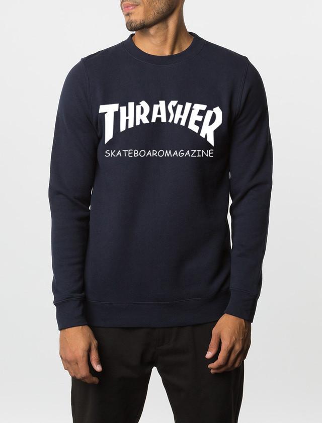 "Свитшот мужской т синий с принтом ""Thrasher Magazine"" | Кофта"
