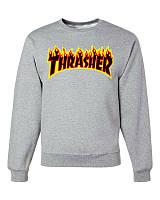 "Свитшот мужской  ""Thrasher "" серый | Кофта"