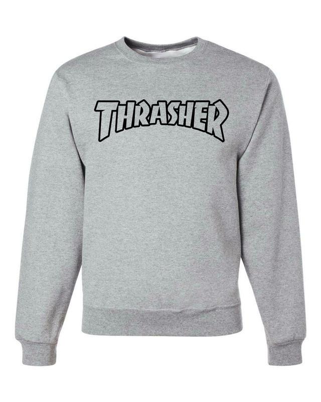 "Свитшот мужской ""Thrasher"" серый | Кофта"