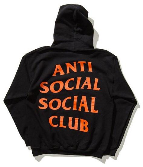 Толстовка с принтом A.S.S.C. Paranoid   Anti Social social club мужская